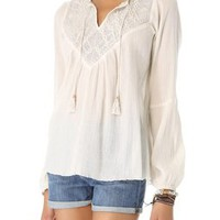 Twelfth St. by Cynthia Vincent Crochet Peasant Top | SHOPBOP