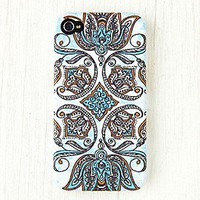Womens Printed iPhone 4/4S Case - Henna Flag, One
