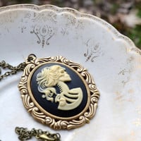 Lolita Cameo Necklace Lolita Necklace by cynicalredhead on Etsy