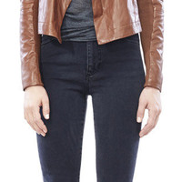 VEDA | Max Classic Leather Convertible Jacket - Desert
