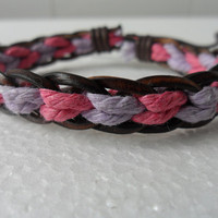 Leather and Rope Woven Bracelets Adjustable 11S by sevenvsxiao