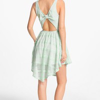 Fire Bow Back Dress (Juniors) | Nordstrom