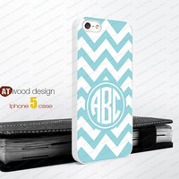 Monogram geometric blue line Iphone 5 case unique case Hard case Rubber case iphone 4 case