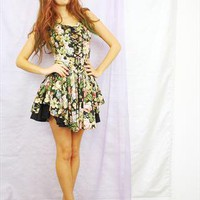 Floral 90s Grunge Prom Dress from Bird On A Wire
