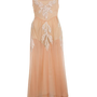 Peach Applique Midi Dress - Midi  Maxi Dresses  - Dress Shop  - Miss Selfridge US