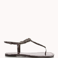 Bejeweled Thong Sandals | FOREVER 21 - 2048876235