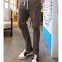 Brown Men Casual Slim Cotton Feet Pants M/L 1516SJ-K-24br