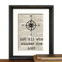 Compass Not All Who Wander Are Lost Tolkien by QuaintandCurious