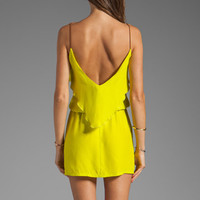 Karina Grimaldi Raffaela Solid Mini in Neon Yellow from REVOLVEclothing.com