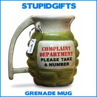 GRENADE MUG TAKE A NUMBER COFFEE TEA COCOA JOKE CUP FUNNY OFFICE GAG GIFT NEW