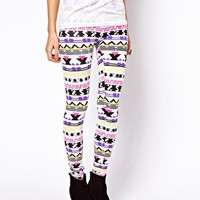 Leggings in Festival Aztec Print