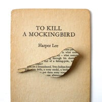 To Kill a Mockingbird Finch brooch by houseofismay on Etsy