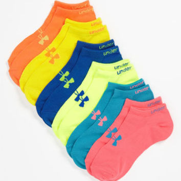 Under Armour Neon No-Show Socks (Six-Pack)