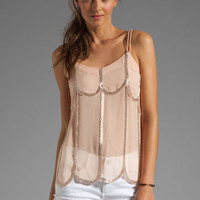 Karina Grimaldi Marigold Beaded Camy in Blush