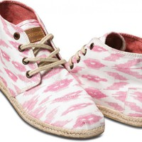 Pink Ikat Women's Sustainable Desert Botas