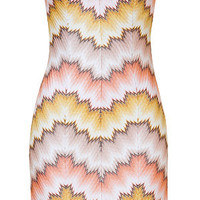 Missoni - Patterned Rayon Strapless Dress