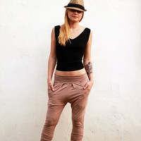 New Drop-Crotch women pants, Pockets pants, Yoga pants