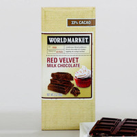 World Market Red Velvet Milk Chocolate Bar, Set of 2