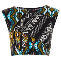 Tribal Aztec Crop Tee - Jersey Tops - Clothing - Topshop USA