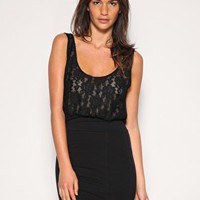 Motel | Motel 2 in 1 Dress with Lace Top at ASOS
