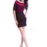 Bqueen Color Block Dress H054E