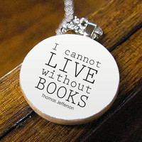 Literary Pendant Necklace Featuring Famous I by BookishCharm