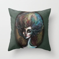 Drama of The Dark and Wicked Throw Pillow by Ben Geiger