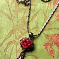 "Victorian trading Co. - www.victoriantradingco.com - Bleeding Heart Necklace<br/><img src=/ebaydav/images/bestsellertag.jpg alt=""bestseller tag"">"