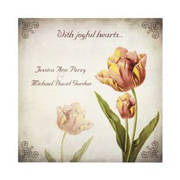 Pink Parrot Tulip Wedding Invitation from Zazzle.com