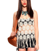GYPSY WARRIOR - Flower Power Crochet Tank