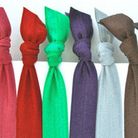 Soft Stretchy Yoga Headbands - Pick 6 - Women&#x27;s Hair Tie Headbands - Emi Jay Like Hair Accessories - Knotted Hair Bands