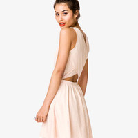 Crisscross Back Swiss Dot Dress | FOREVER 21 - 2000048239
