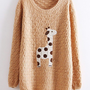 LOVELY DOTS GIRAFFE PULLOVER SWEATER1