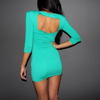 PARTY EVENING SLEEVE CLUB-WEAR SEXY TUNIC DRESS