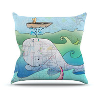 "Catherine Holcombe ""I'm on a Boat"" Throw Pillow 