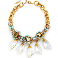 Leslie Danzis - Iridescent Stone Drop Bib Necklace