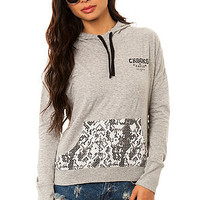 Crooks and Castles The Sur Califas Pullover Hoody in Heather Grey Snake : Karmaloop.com - Global Concrete Culture