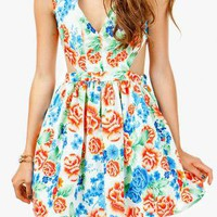 Summer Garden Cut Out Dress