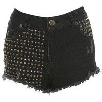 Multi Colour Stud Short - Shorts - Apparel - Miss Selfridge US