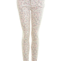 Washed Floral Super Skinny Jeans - Jeans & Denim - Apparel - Miss Selfridge US