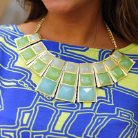 Disco Floor Necklace: Pale Green | Hope's
