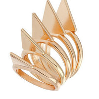 Triangle Stack Ring - New In This Week  - New In  - Topshop USA