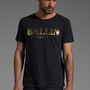 Brian Lichtenberg Ballin Tee in Black/Gold Foil from REVOLVEclothing.com