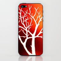 Blazing Trees iPhone & iPod Skin by Morgan Ralston
