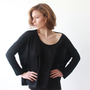 Crochet Knit shirt , Back , Oversized Women Top