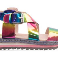 Veletto Platform Sandal in Rainbow Multi at Solestruck.com