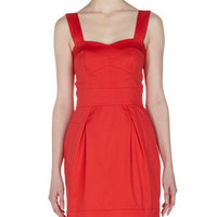 Sweetheart Poplin Dress, Velarian Red