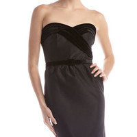 Strapless Belted Dress, Black