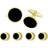 Round Formal Cufflink and Tuxedo Stud...