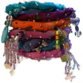 Boho Bangle Bracelets Set of 6 | kathisewnsew - Jewelry on ArtFire